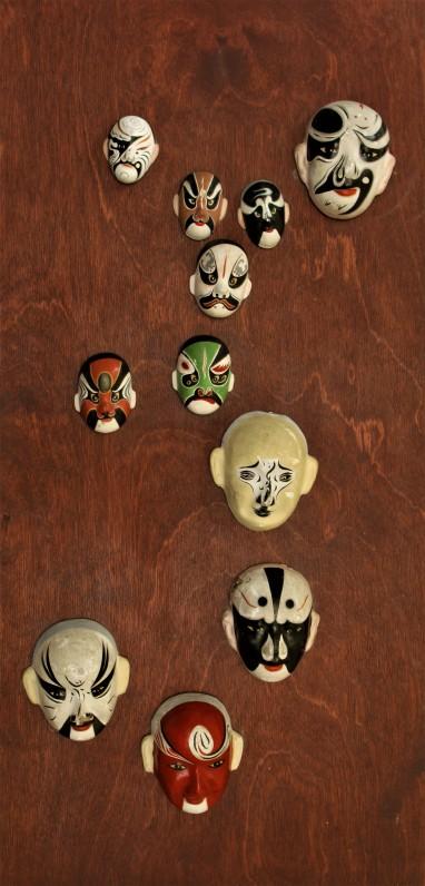 1960 m. iš Japonijos parsivežtos kaukės
