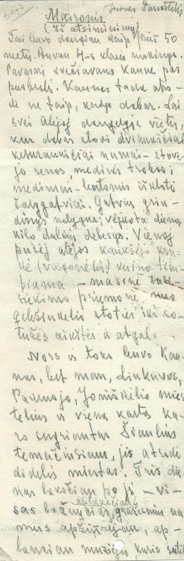 """J. Paukštelio atsiminimai apie Maironį. Iš knygos """"Dažnai atsimenu juos"""""""