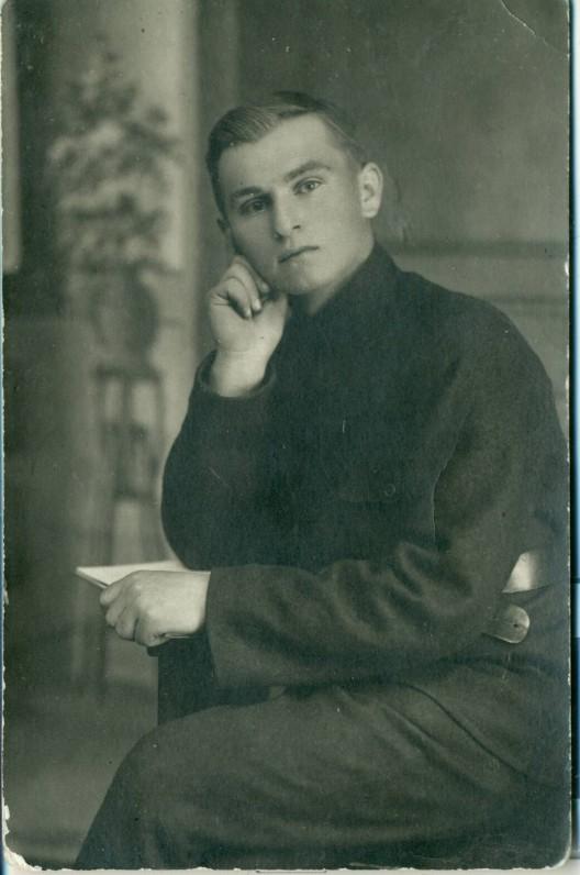 J. Paukštelis – Šiaulių gimnazijos mokinys. 1921 m.