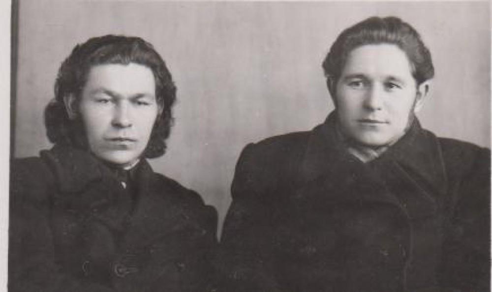 K. Kubilinskas ir A. Skinkys Vilniuje 1947 m. Nuotr. B. Jauniškio