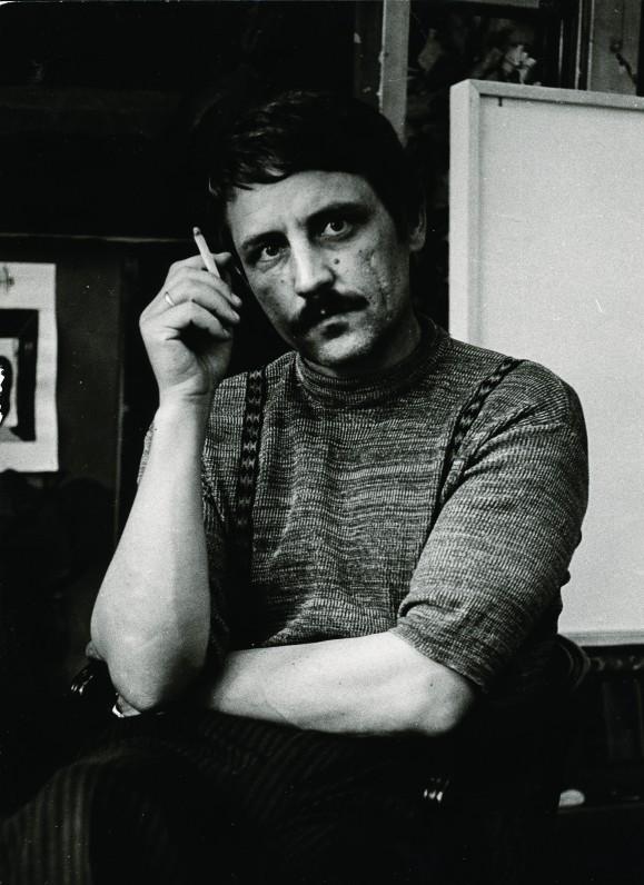 L. Gutauskas savo dirbtuvėje Vilniuje, 1978 m., V. Dichavičienės nuotr.