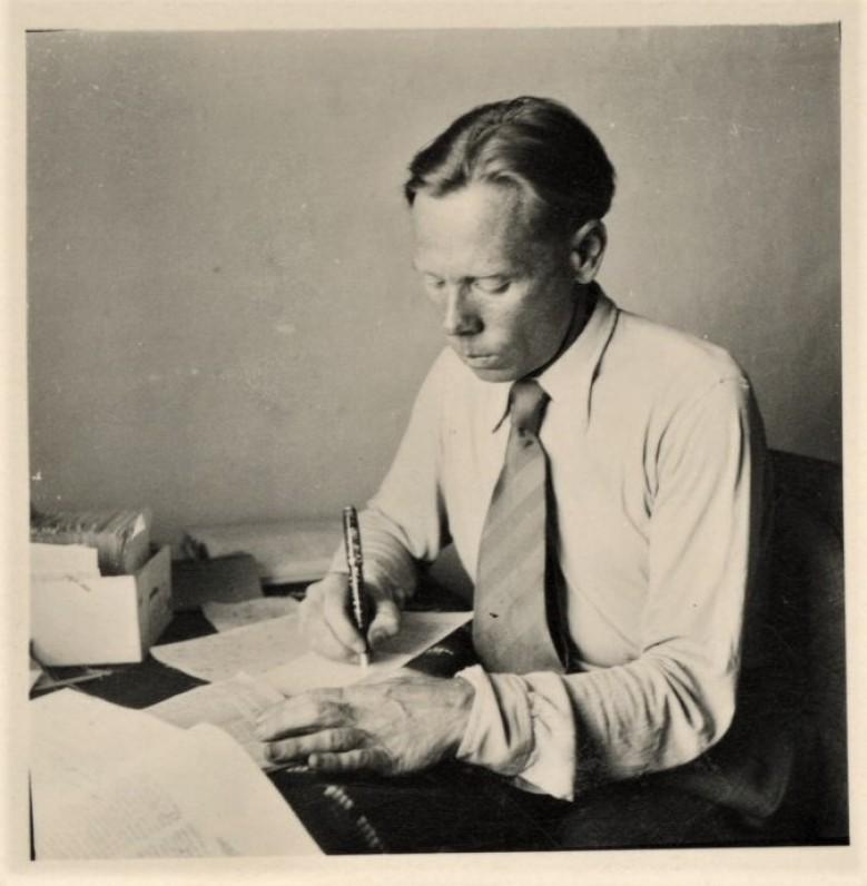 J. Aistis, apie 1945 m.