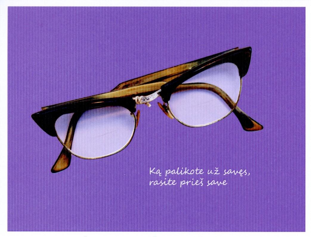 13. Rašytojo Juozo Grušo akiniai