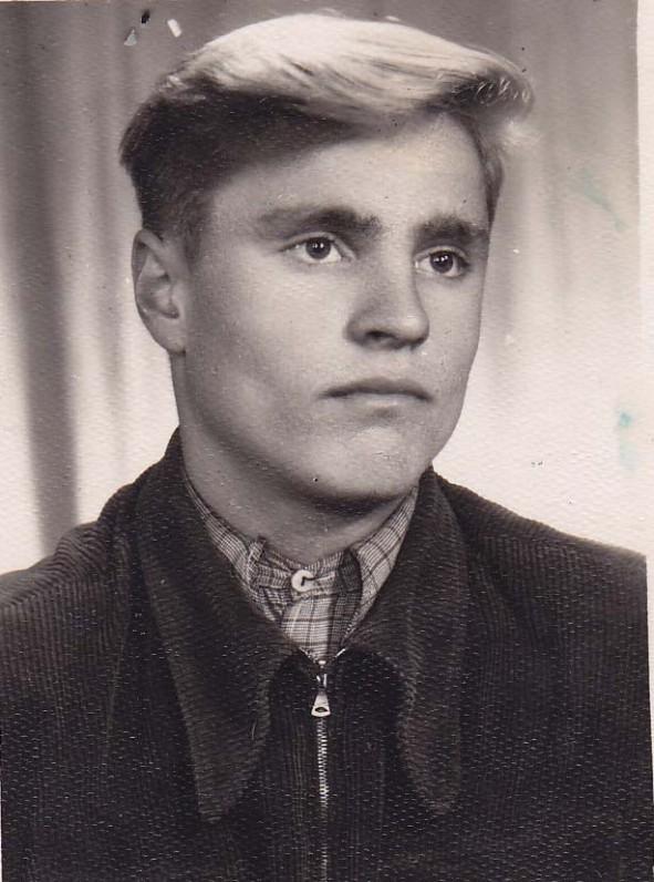 B. Radzevičius – Vyžuonų vid. mokyklos mokinys. 1959 m.