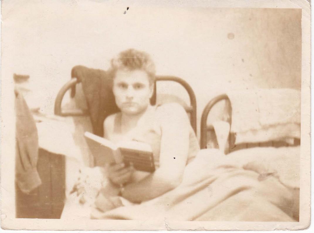 B. Radzevičius bendrabutyje. 1961 m.