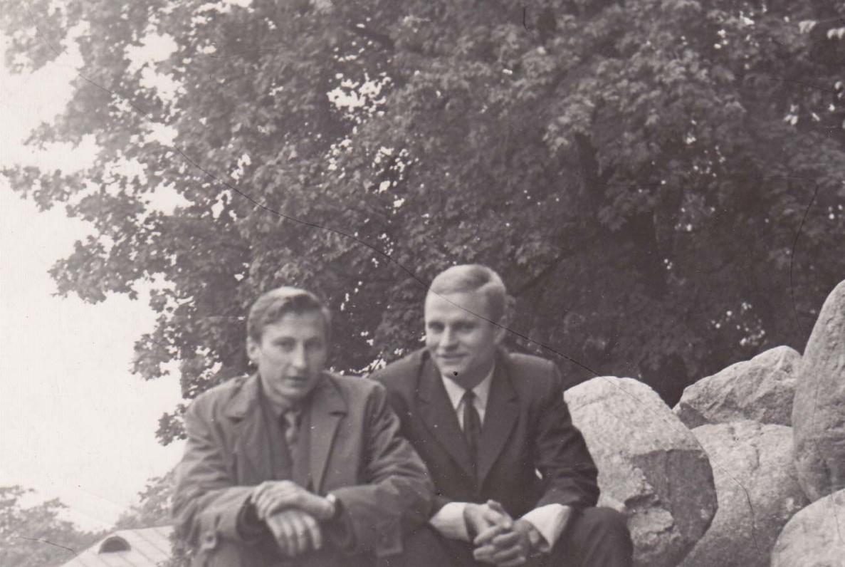 B. Radzevičius ir prozininkas, publicistas S. Kašauskas. Vilnius, 1966 m.