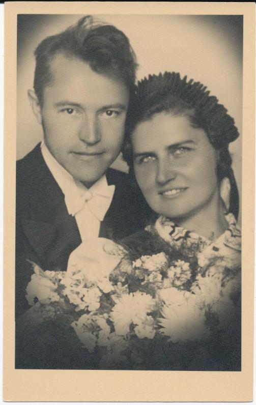 Benediktas ir Gražina Babrauskai. 1941 m. rugpjūčio 30 d.