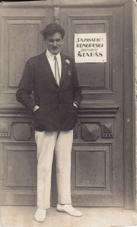 Juozas Eretas. Kaunas, 1927 m.