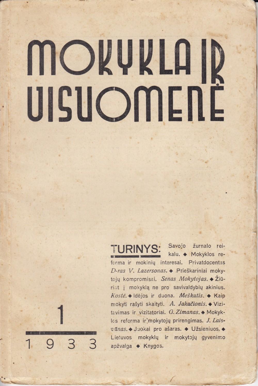 Leidinys iš S. Nėries bibliotekos