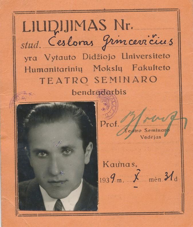 Liudijimas. 1939 m.