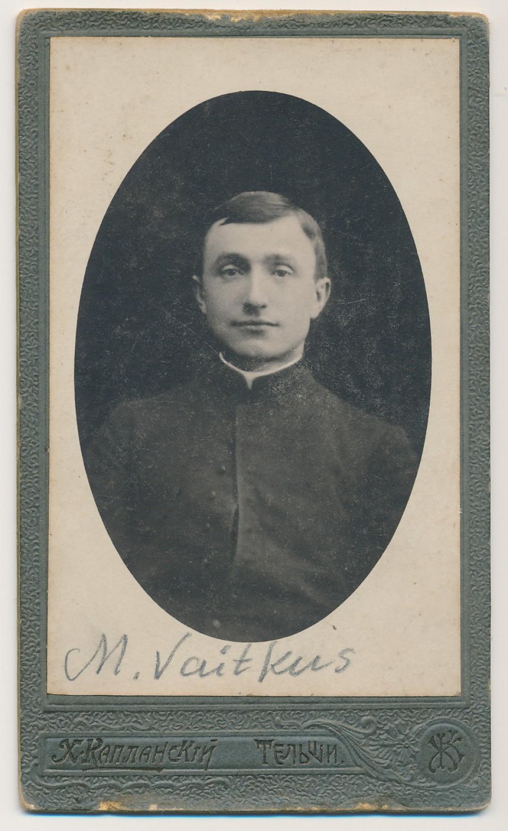 M. Vaitkus. Telšiai, 1919 m. Ch. Kaplanskio nuotrauka
