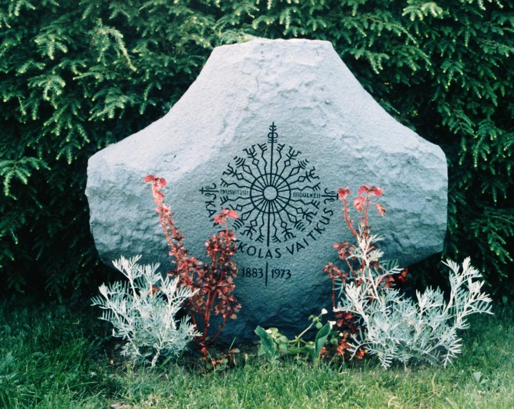 Mykolo Vaitkaus kapas. JAV, Putnamas, 1973 m.