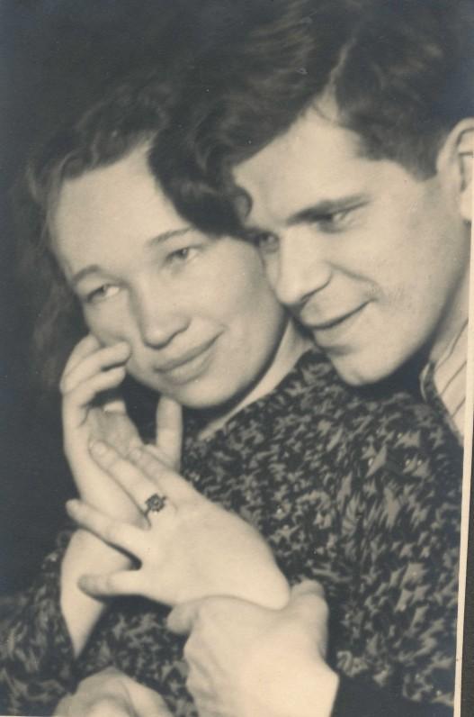 Nelė Mazalaitė ir Juozas Kruminas. 1941 m.