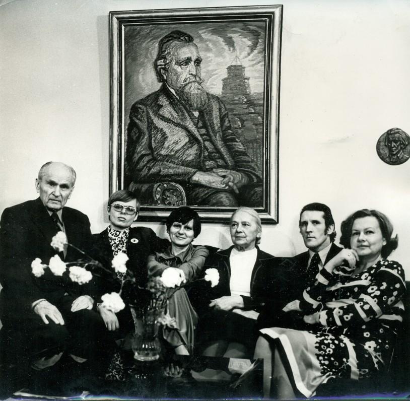 Paukštelių šeima. Vilnius, 1976 m.