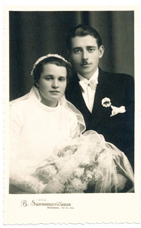 Rimkūnų vestuvės. Kaunas. 1938 m. Boleslovo Savsenavičiaus nuotrauka