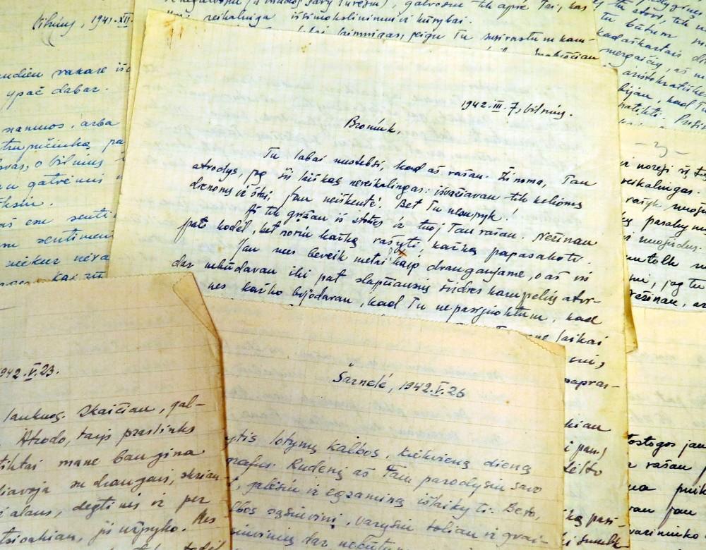 V. Mačernio laiškų fragmentai B. Vildžiūnaitei