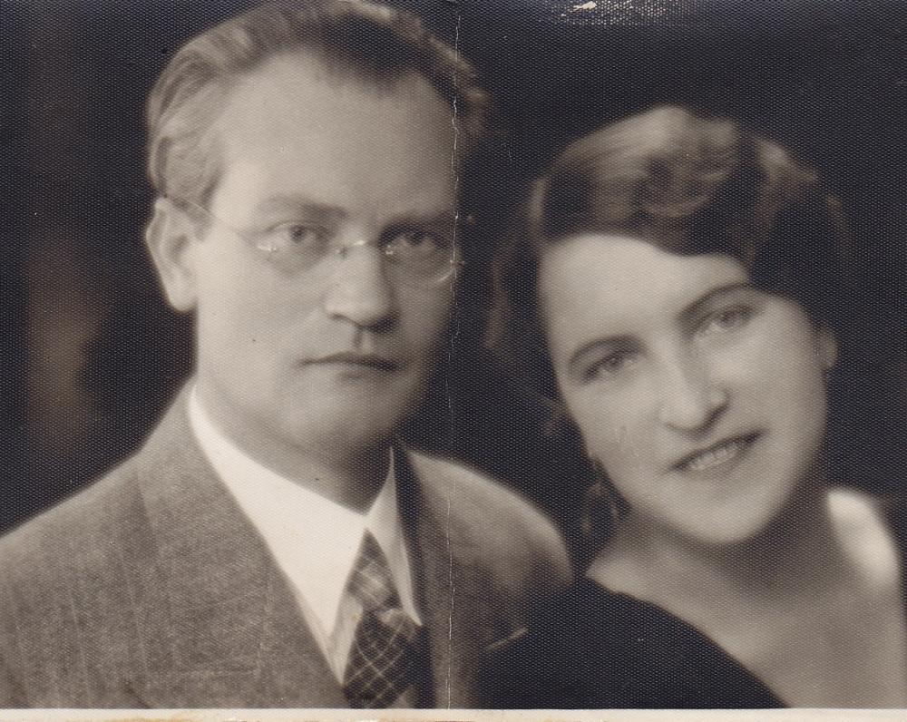 Vincas Mykolaitis-Putinas ir Emilija Kvedaraitė. 1935 m.