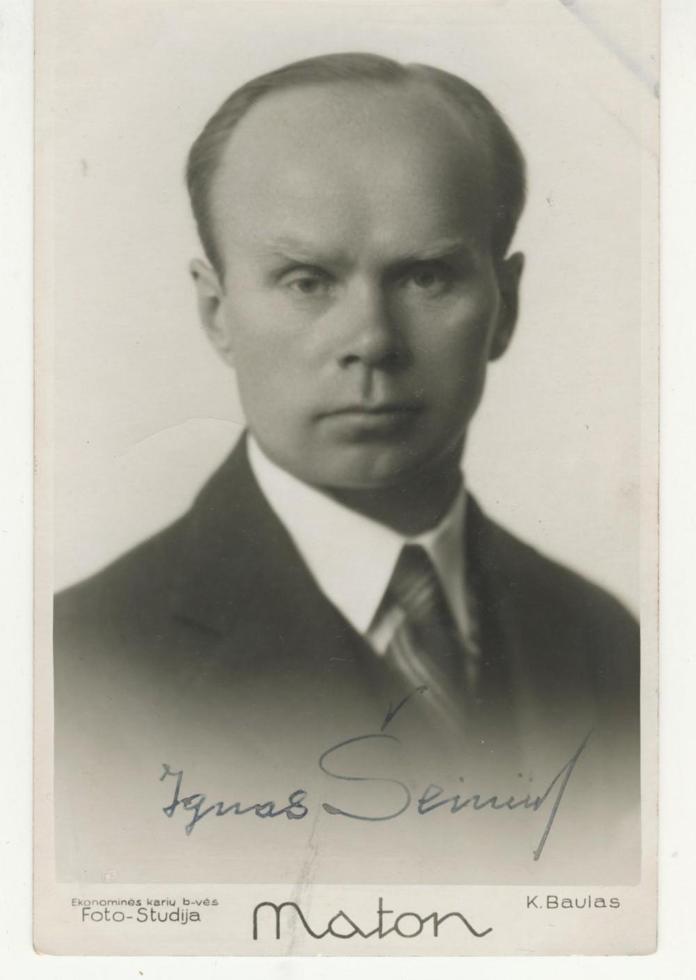 I. Šeinius, apie 1934 m.