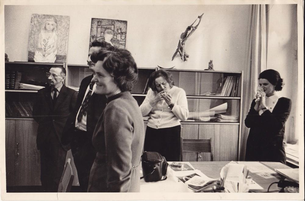 """""""Kultūros barų"""" redakcijoje. 1972 m."""