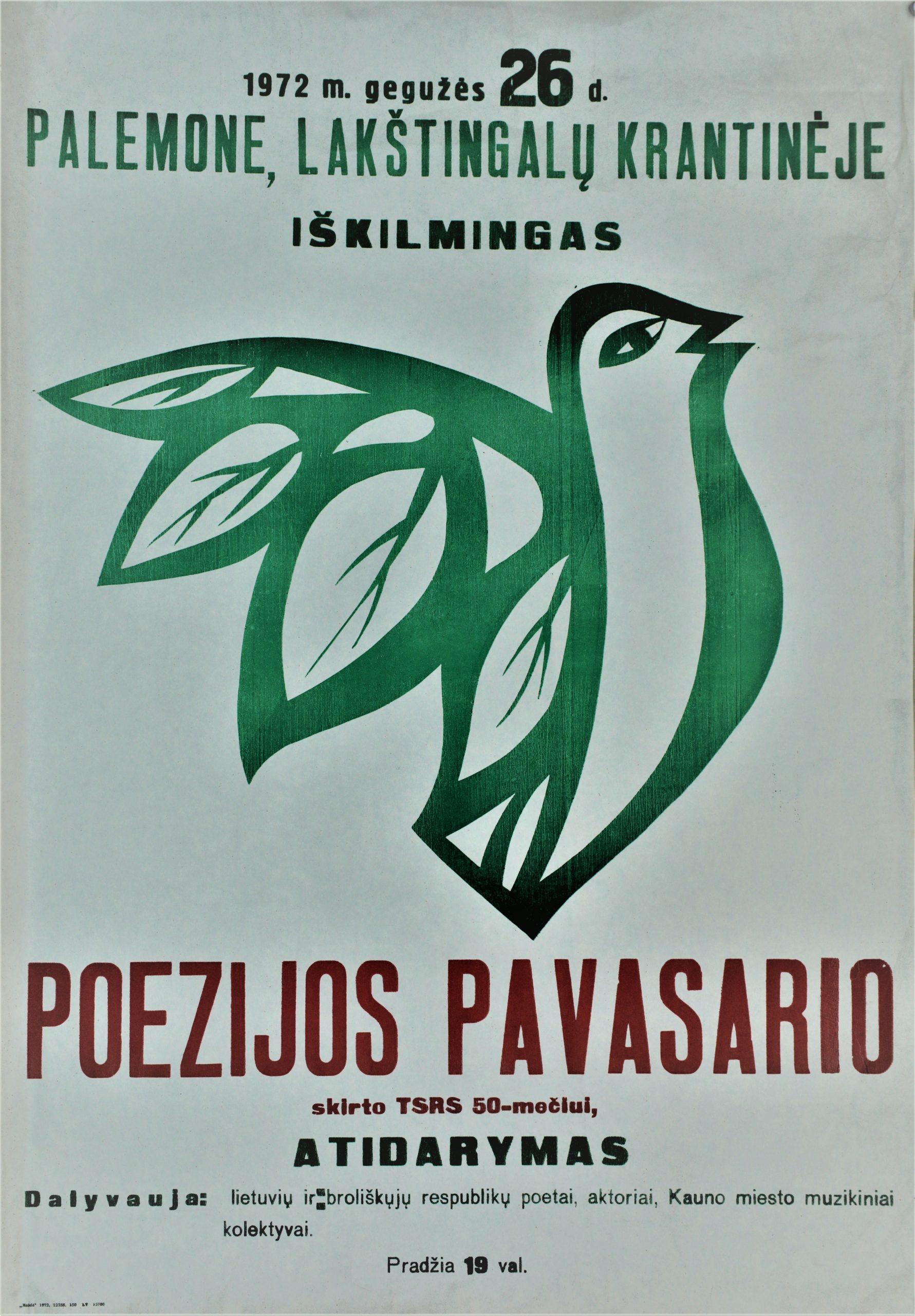 Poezijos pavasaris, 1972 m.