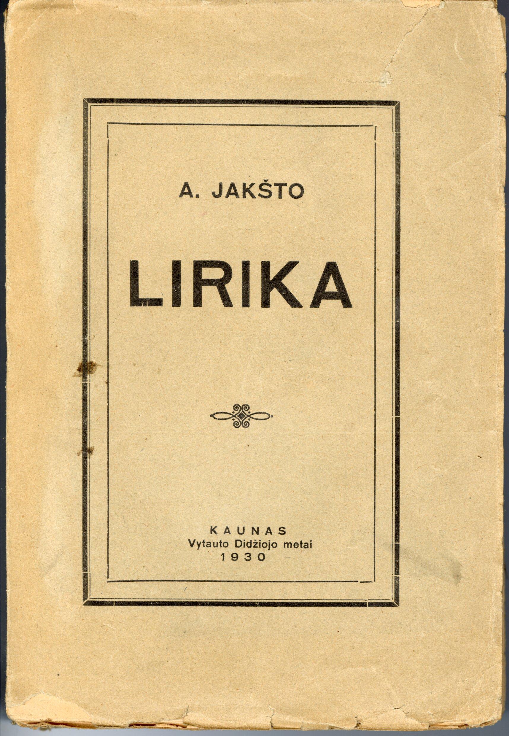 Poezijos rinktinė. 1930 m.