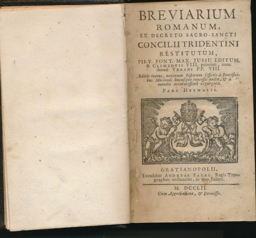 1752 m. išleistas brevijorius su kunigo A. Vienažindžio įrašu. Brevijorius – katalikų kunigų maldų knyga