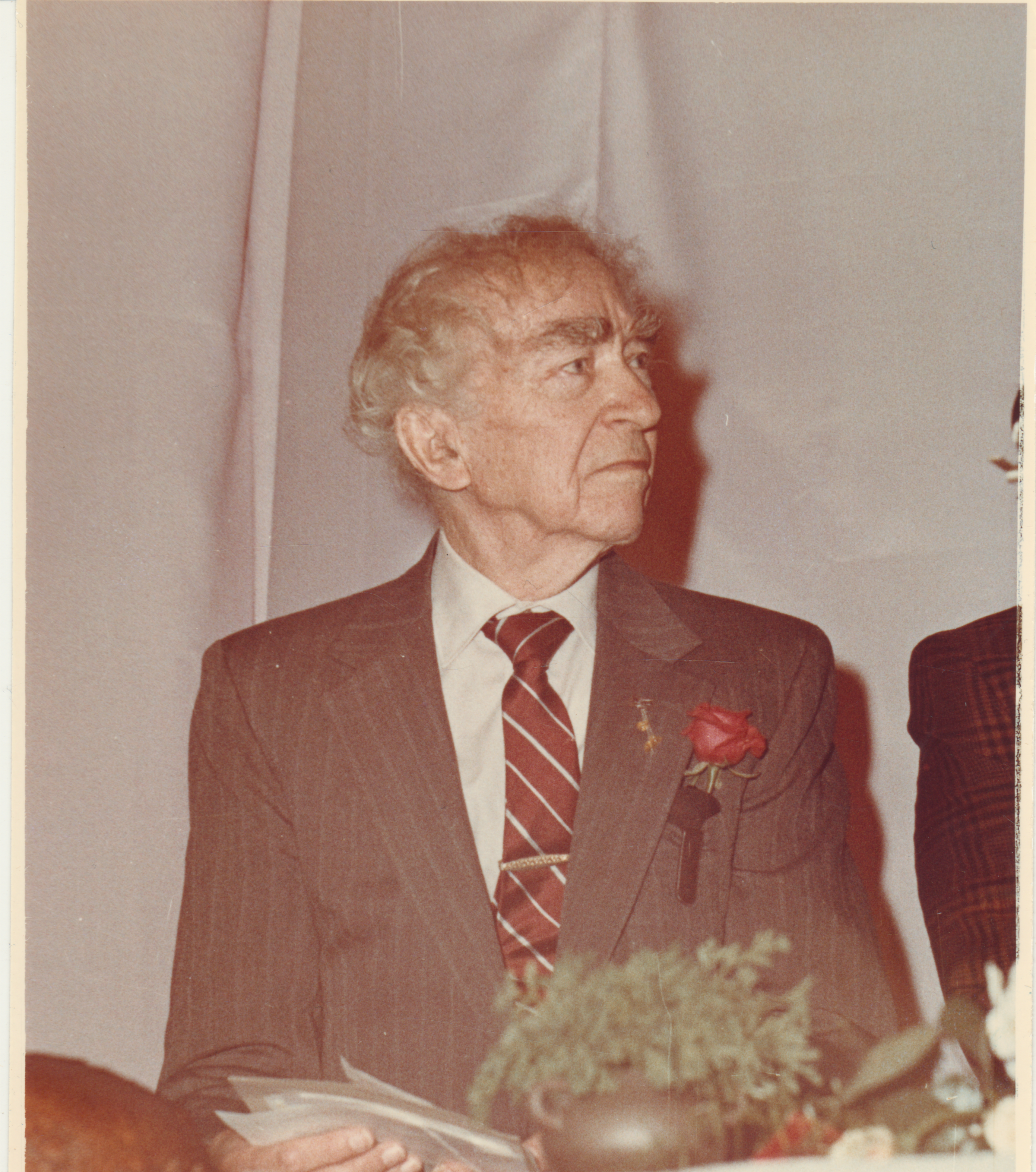 Bernardas Brazdžionis Ukmergėje. 1991 m. balandžio 2d.