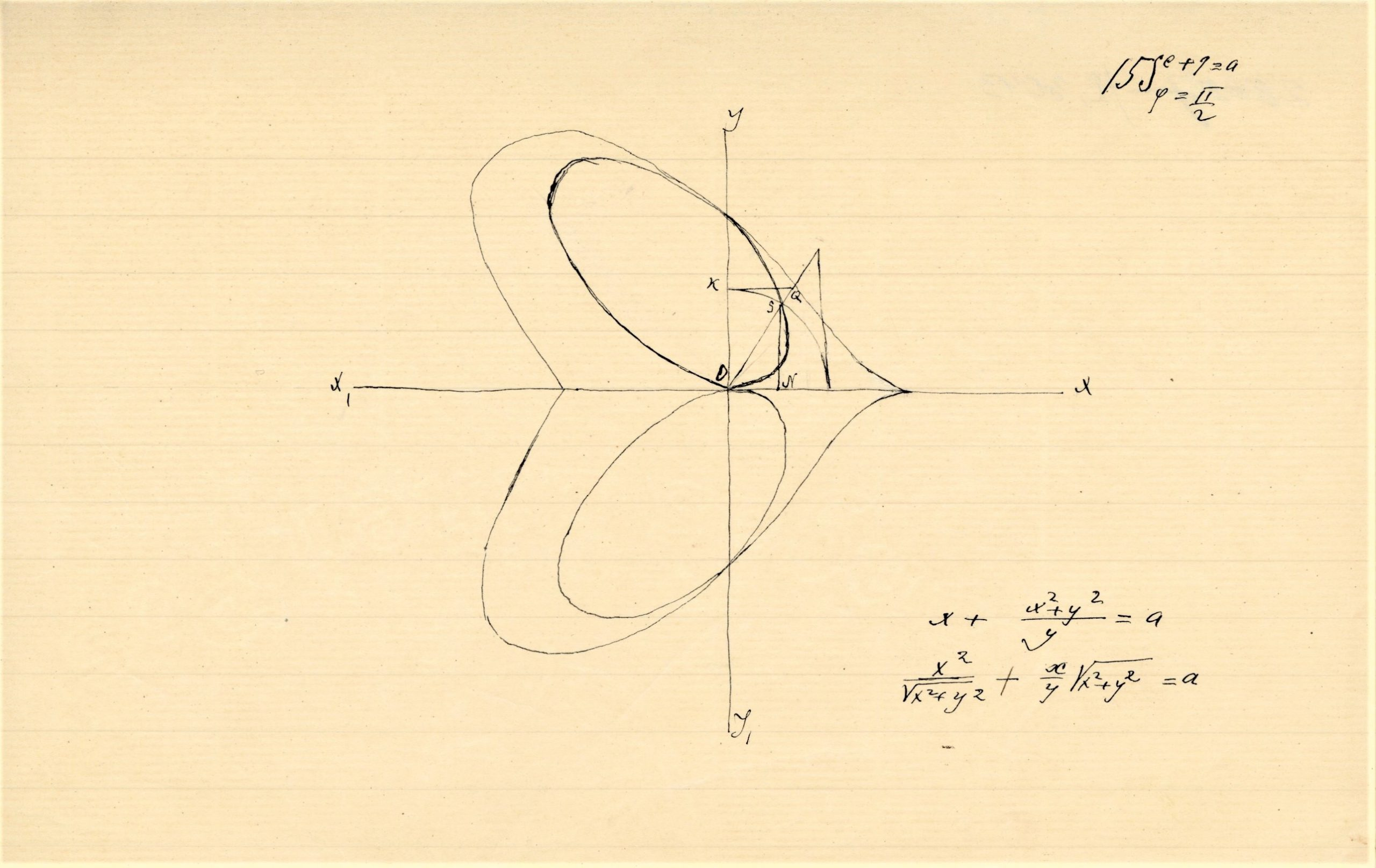 """A. Jakšto rankraštis. Straipsnio apie """"Apie vieną matematiškąją  tapatybę"""" fragmentas"""