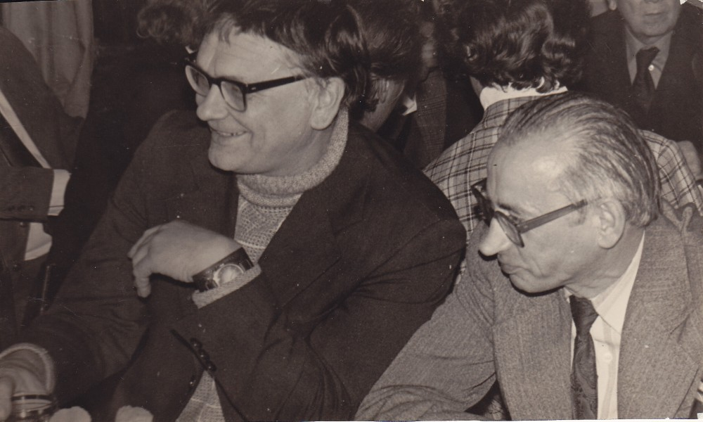 A. Baltrūnas su A. Baltakiu. 1983 m.