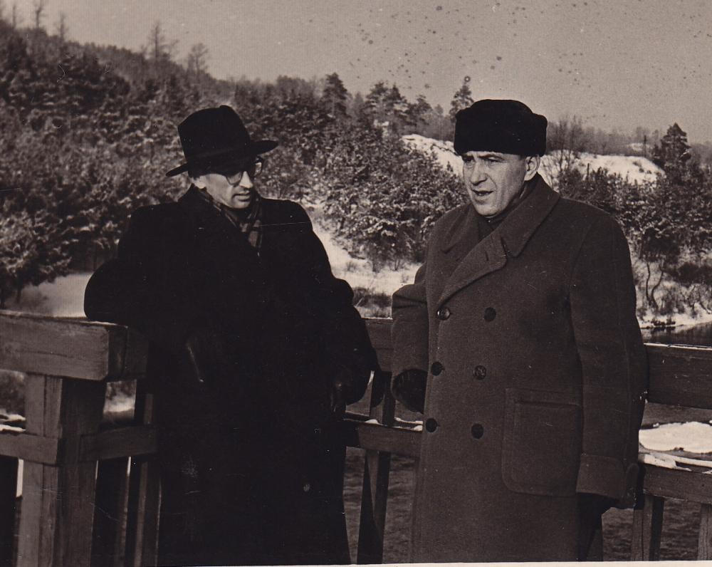 A. Baltrūnas su Albinu Žukausku Žvėryne. 1958 m.