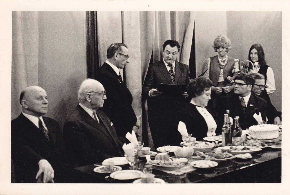 A. Baltrūno 50-mečio minėjimas Rašytojų sąjungoje. 1975 m.
