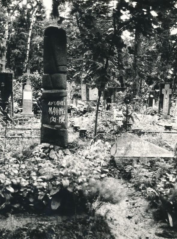 A. Masionio kapas Vyžuonų kapinėse Utenos rajone. Kiekvienais metais jį lankė Birutė