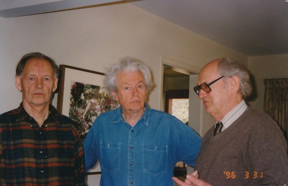 A. Nyka-Niliūnas, K. Ostrauskas ir V. Kavolis. 1996 m.