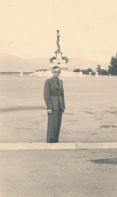 A. Vaičiulaitis. Roma, apie 1938 m.