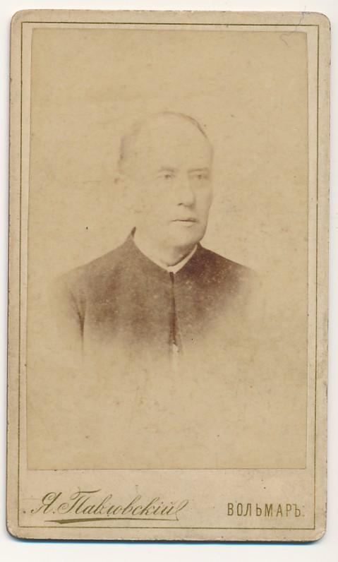 A. Vienažindžio portretinė nuotrauka, daryta fotografo J. Pavlovskio Volmare. Apie 1890 m.
