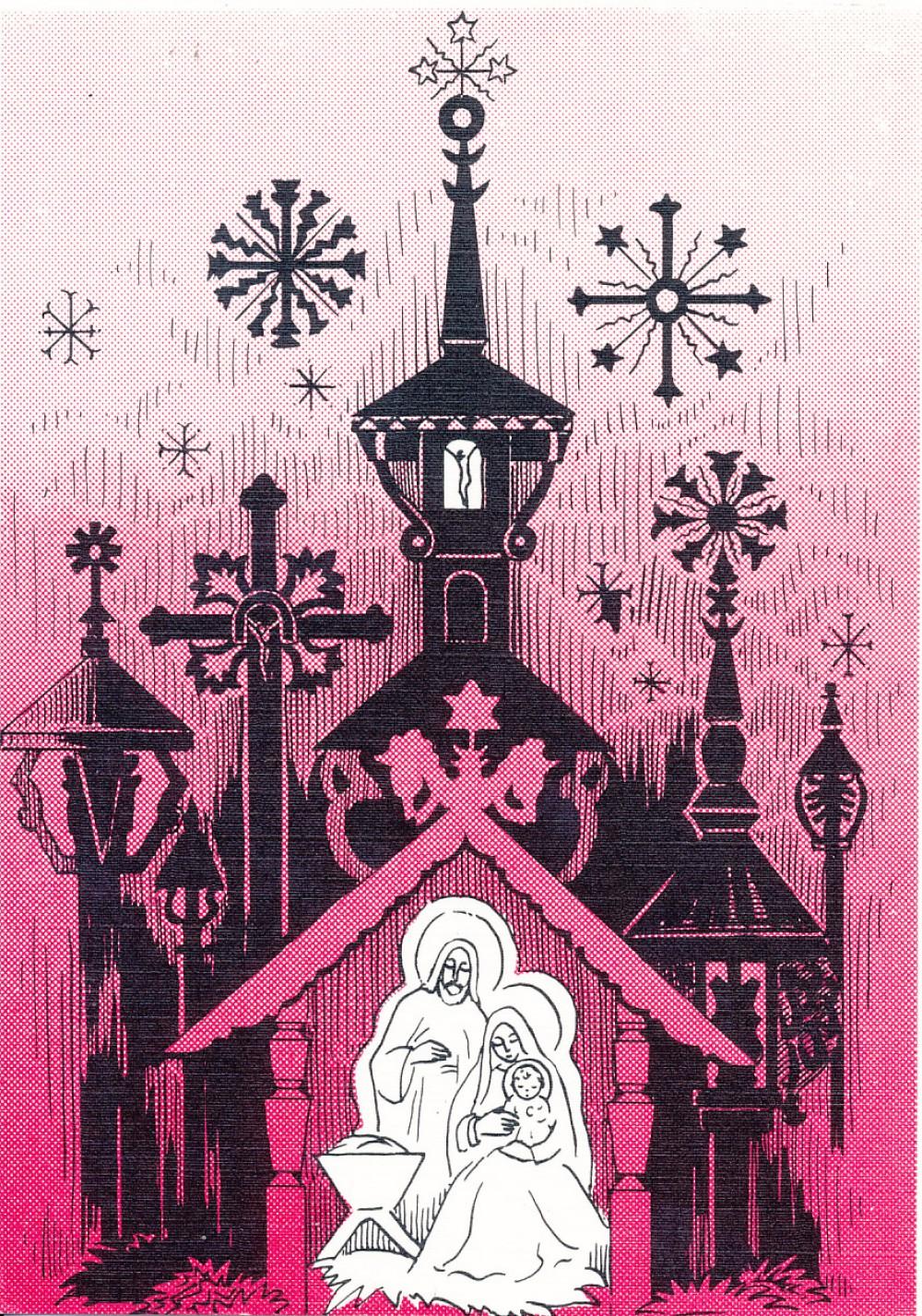 A. ir S. Sužiedėlių Kalėdų ir Naujųjų metų sveikinimas S. Santvarui. 1982 m.