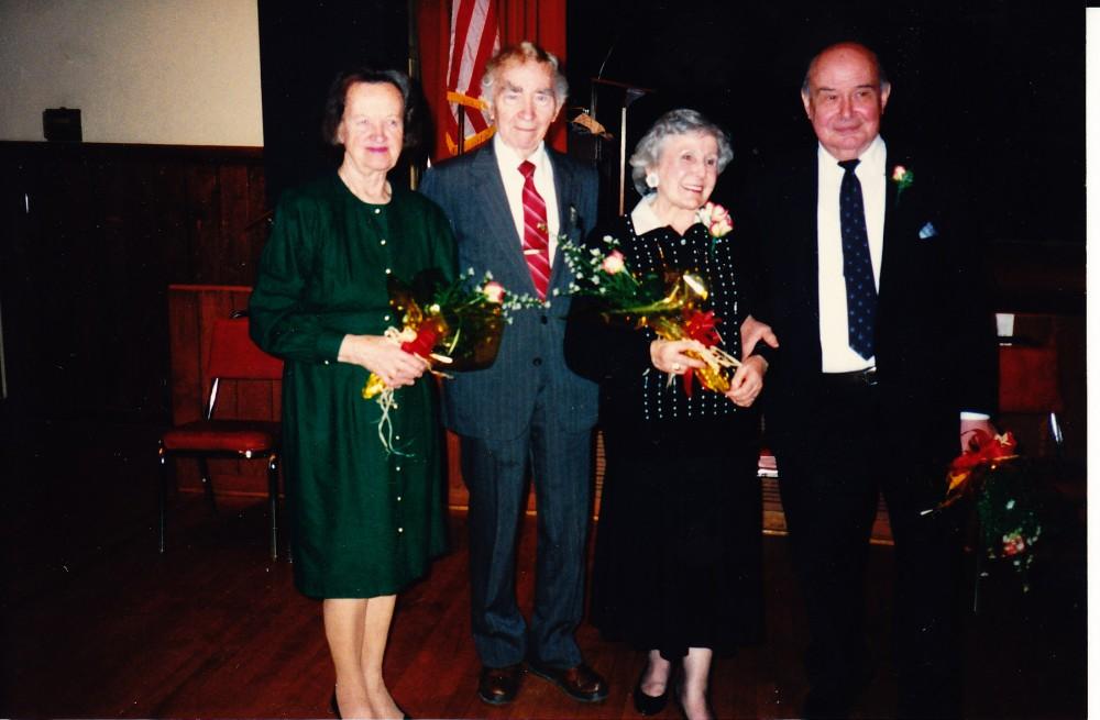 Alė Rūta, B. Brazdžionis, J. Švabaitė-Gylienė, P. Jurkus. Los Andželas, 1991 m.