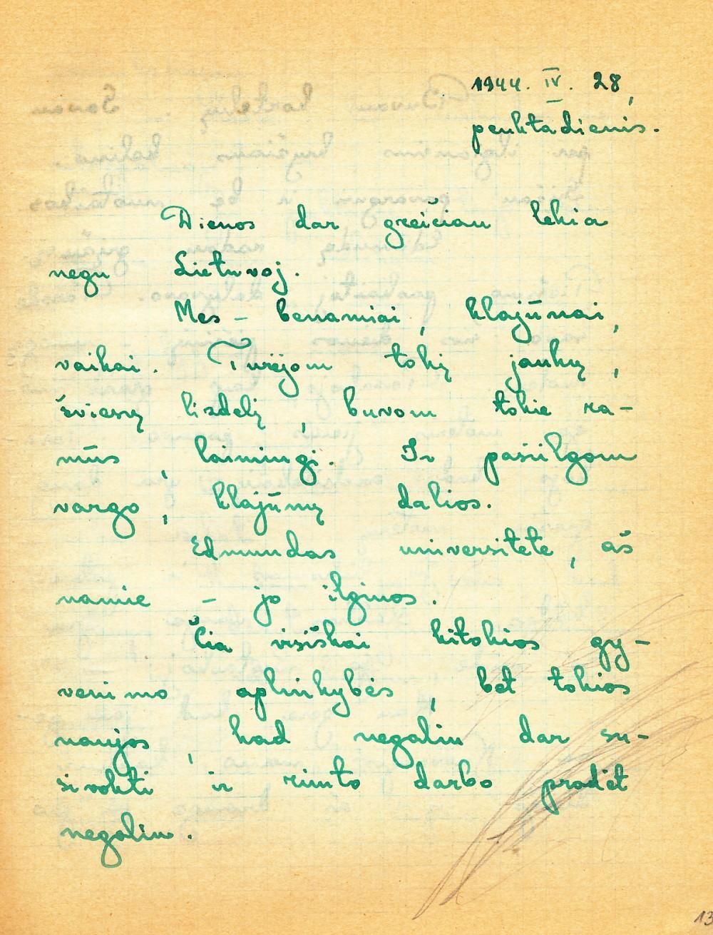 Alės Rūtos rankraštis