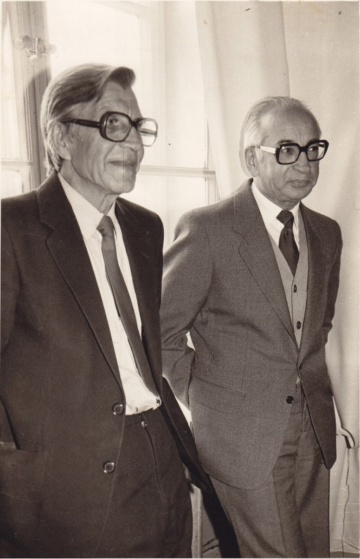 Anelius Markevičius ir A. Baltrūnas. 1984 m. O. Pajedaitės nuotrauka