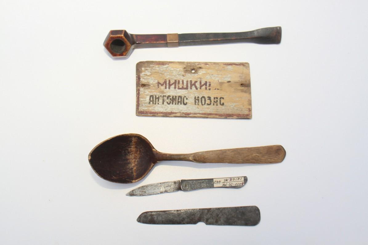 Antano Miškinio daiktai, naudoti tremtyje