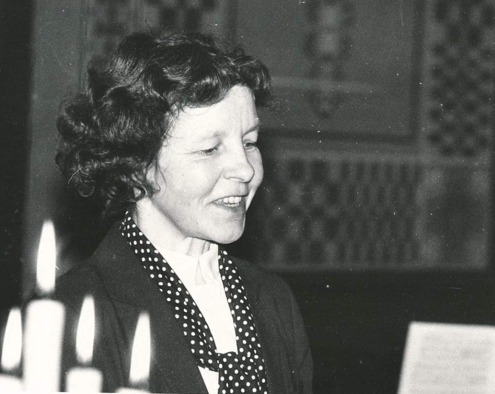 B. Baltrušaitytės kūrybos vakaras Maironio lietuvių literatūros muziejuje. 1993 m.