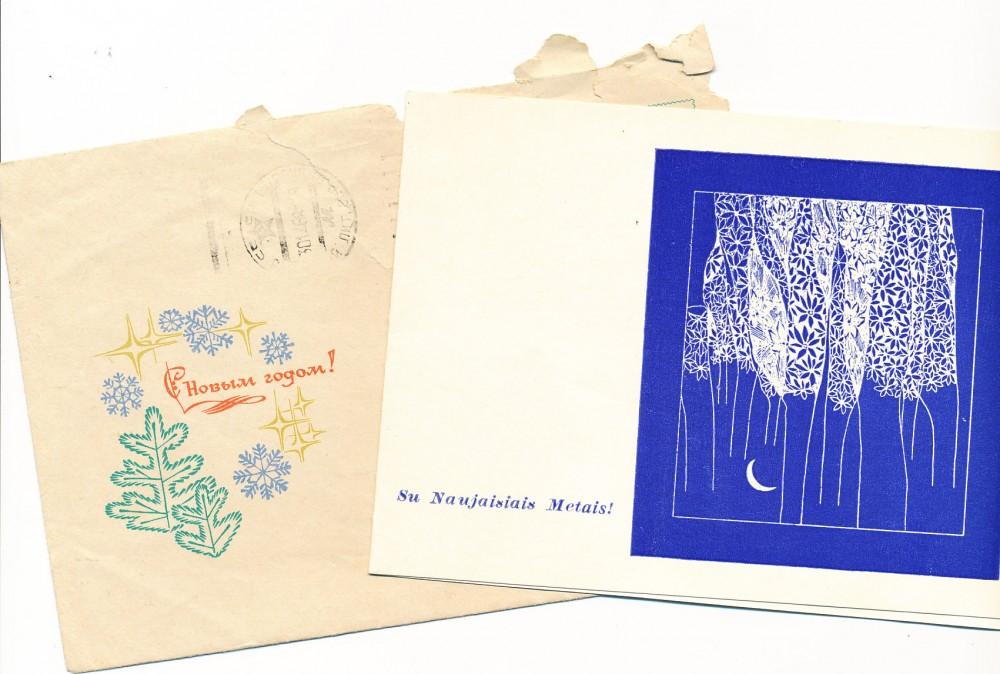 B. Buivydaitės naujametinis sveikinimas O. Beleckienei. Anykščiai, 1970 m.