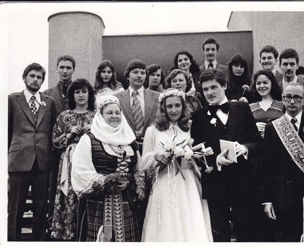 Baltrūnai piršliauja. Vilnius, 1980 02 22