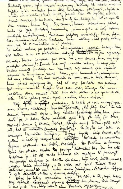 Benedikto Babrausko laiškas Gražinai Tulauskaitei