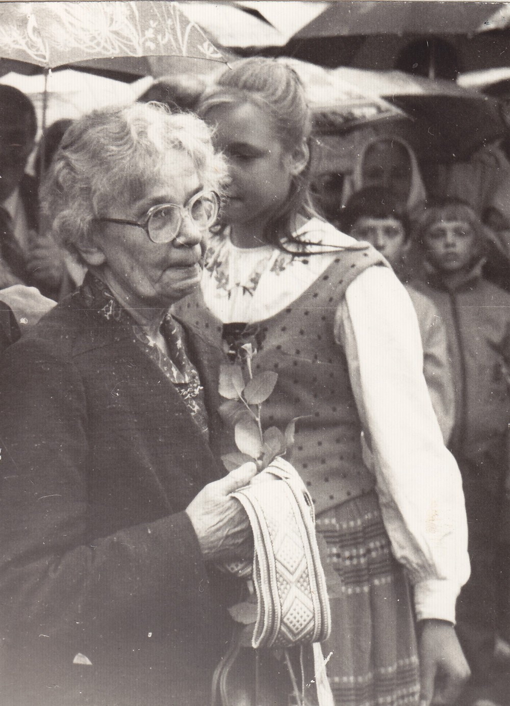 D. Lipčiūtė-Augienė su juosta. 1989 m. rugsėjo 9 d.
