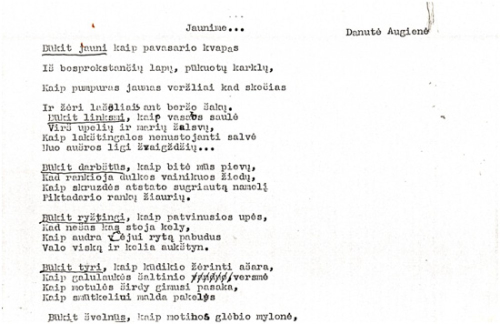 D. Lipčiūtės-Augienės eilėraštis