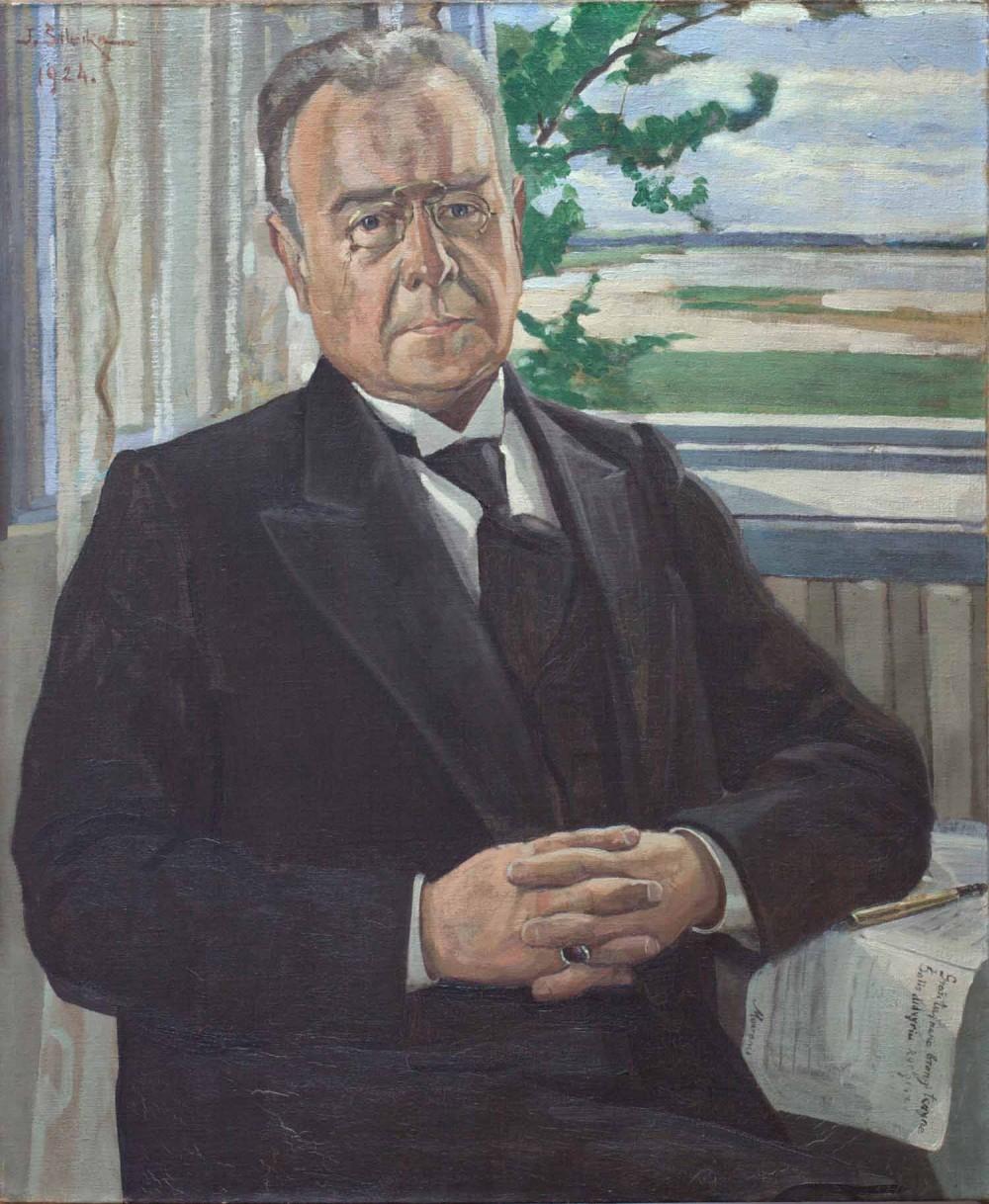 Dail. J. Šileika. 1924 m. Tai – vienintelis portretas, kuriame poetas vilki pasauliečio drabužius