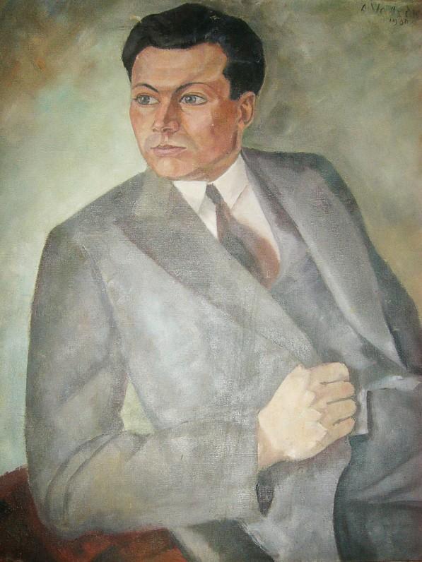 Dailininkas Adolfas Valeška. J. Grušo portretas. Drobė, aliejus. 1930 m. Kaunas