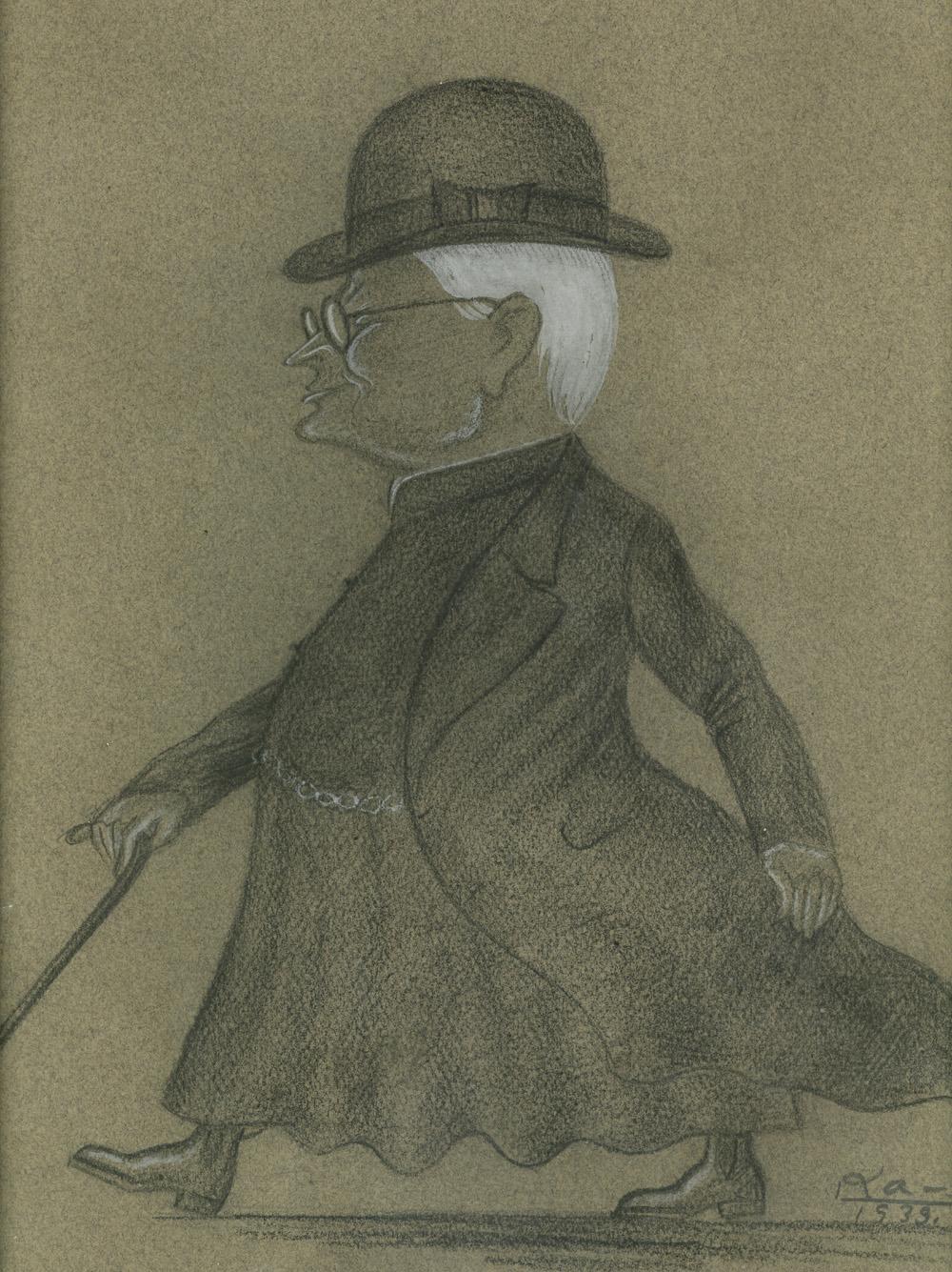 Dailininko L. Kagano draugiškas šaržas. 1932 m.