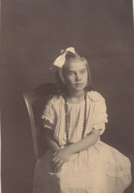 Danutė Lipčiūtė. Apie 1923 m.